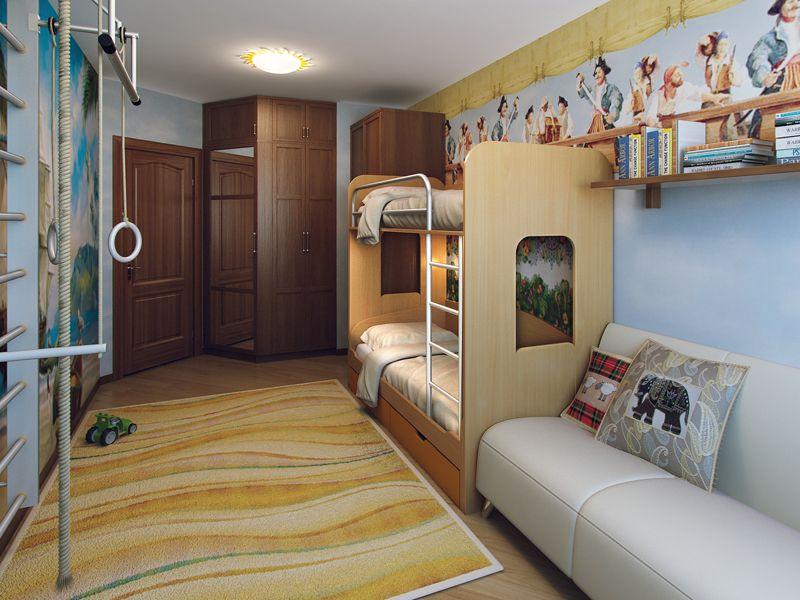 Детская комната для двоих детей делим