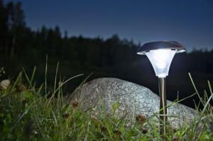 Ландшафтное освещение газонов