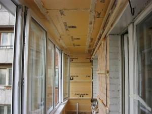 утепления стен и потолка лоджии: