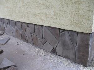 Песчаник при отделке цоколя здания