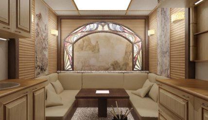 Витражи и витражные двери в дизайне интерьеров
